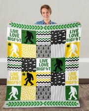 "BIGFOOT BLANKET Fleece Blanket - 50"" x 60"" aos-coral-fleece-blanket-50x60-lifestyle-front-01c"