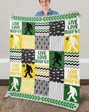 "BIGFOOT BLANKET Fleece Blanket - 50"" x 60"" aos-coral-fleece-blanket-50x60-lifestyle-front-02a"