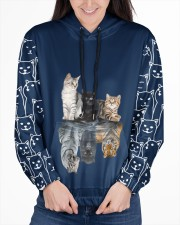 Cat 4 All Over Print Hoodie Women's All Over Print Hoodie aos-complex-women-hoodie-lifestyle-front-03