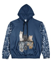 Cat 4 All Over Print Hoodie Women's All Over Print Hoodie front