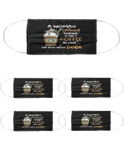 s01 0715 coffee and dogs mask Cloth Face Mask - 5 Pack front
