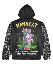 nanacat undefined Women's All Over Print Hoodie back