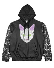 nanacat undefined Women's All Over Print Hoodie front