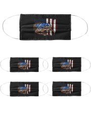 bulldog american flag mask Cloth Face Mask - 5 Pack front