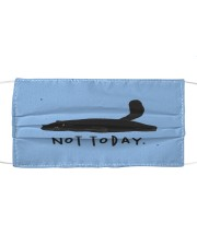 black cat not today mask Cloth face mask front