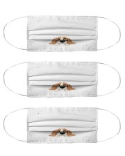 i love to the moon and back dog mask Cloth Face Mask - 3 Pack front