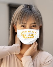 born to be a stay at home dog mom forced to mask Cloth Face Mask - 3 Pack aos-face-mask-lifestyle-18