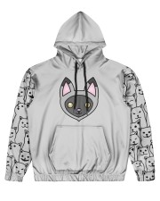 USA FLAt Cat All Over Print Hoodie Men's All Over Print Hoodie tile