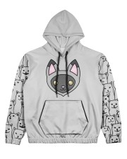 USA FLAt Cat All Over Print Hoodie Women's All Over Print Hoodie tile