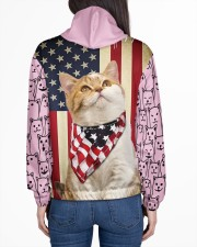 USA FLAt Cat All Over Print Hoodie Women's All Over Print Hoodie aos-complex-women-hoodie-lifestyle-back-01