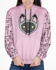 USA FLAt Cat All Over Print Hoodie Women's All Over Print Hoodie aos-complex-women-hoodie-lifestyle-front-03