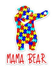 Autism Love Mama Bear Dabbing Sticker - Single (Vertical) front