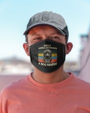 save a pitbull euthanize a dog fighter shir mask Cloth Face Mask - 3 Pack aos-face-mask-lifestyle-06