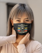 save a pitbull euthanize a dog fighter shir mask Cloth Face Mask - 3 Pack aos-face-mask-lifestyle-18