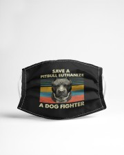save a pitbull euthanize a dog fighter shir mask Cloth Face Mask - 3 Pack aos-face-mask-lifestyle-22