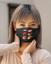 sushi bulldog mask Cloth Face Mask - 5 Pack aos-face-mask-lifestyle-18