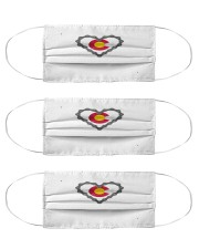 colorado flag cycling mountain biking mask Cloth Face Mask - 3 Pack front