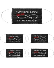 a dogs love is infinite mask Cloth Face Mask - 5 Pack front