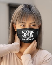 i am a cycling dad just like a normal dad b mask Cloth Face Mask - 3 Pack aos-face-mask-lifestyle-18