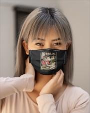 samurai reading book mask Cloth Face Mask - 3 Pack aos-face-mask-lifestyle-18