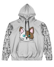 cat eng wom just 06 Men's All Over Print Hoodie tile
