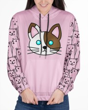 cat eng wom just 06 Women's All Over Print Hoodie aos-complex-women-hoodie-lifestyle-front-03