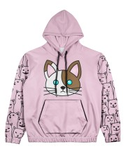 cat eng wom just 06 Women's All Over Print Hoodie front