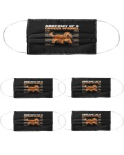 anatomy of a cocker spaniel the function of mask Cloth Face Mask - 5 Pack front