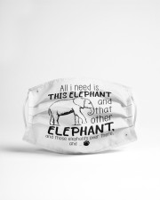 all i need is this elephant and that other mask Cloth Face Mask - 3 Pack aos-face-mask-lifestyle-22