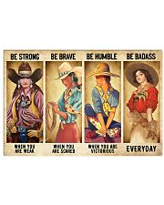 Cowgirl Be Strong Be Brave Be Humble Horse 1 36x24 Poster front