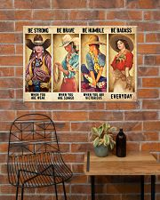 Cowgirl Be Strong Be Brave Be Humble Horse 1 36x24 Poster poster-landscape-36x24-lifestyle-20