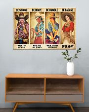 Cowgirl Be Strong Be Brave Be Humble Horse 1 36x24 Poster poster-landscape-36x24-lifestyle-21