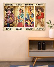 Cowgirl Be Strong Be Brave Be Humble Horse 1 36x24 Poster poster-landscape-36x24-lifestyle-22