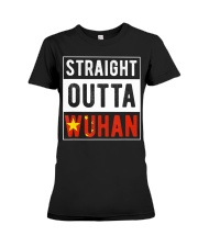 Straight Outta Wuhan Hubei China Tourist So Premium Fit Ladies Tee thumbnail