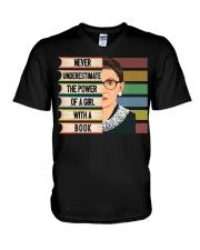 Feminist Ruth Bader Ginsburg RBG V-Neck T-Shirt thumbnail