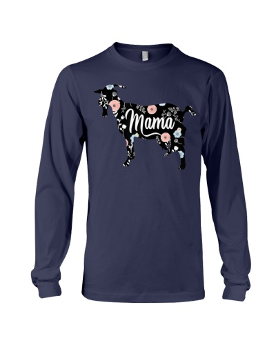 Womens Mama Goat Floral T Shirt Mom Lover