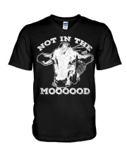 Not In The Mood T-Shirt Funny Cow Shirt V-Neck T-Shirt thumbnail