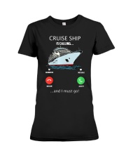 Womens Cruise Ship Is Calling And I Must G Premium Fit Ladies Tee thumbnail