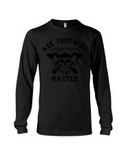 Axe Throwing Master Funny Retro Lumberjack Long Sleeve Tee thumbnail