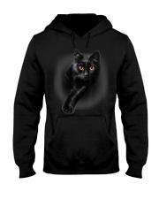 Black Cat Yellow Eyes T-Shirt Cats  Hooded Sweatshirt thumbnail