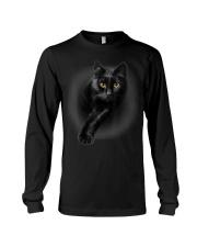 Black Cat Yellow Eyes T-Shirt Cats  Long Sleeve Tee thumbnail