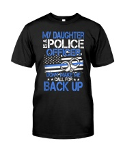 Police Officer's Dad - Police Officer's Mo Classic T-Shirt front