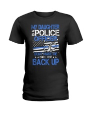 Police Officer's Dad - Police Officer's Mo Ladies T-Shirt thumbnail