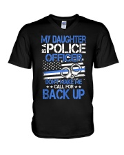 Police Officer's Dad - Police Officer's Mo V-Neck T-Shirt thumbnail