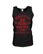 300 Pound Bench Press Club Strong Powerlift Unisex Tank thumbnail