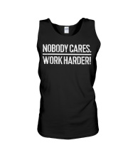 Nobody Cares Work Harder T-Shirt Unisex Tank thumbnail