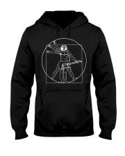 Vitruvian Man Guitar Shirt Da Vinci Gu Hooded Sweatshirt thumbnail