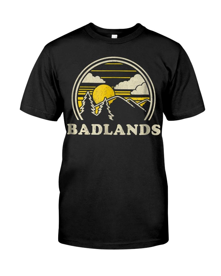 Badlands South Dakota SD T Shirt Vint Classic T-Shirt