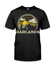 Badlands South Dakota SD T Shirt Vint Classic T-Shirt front