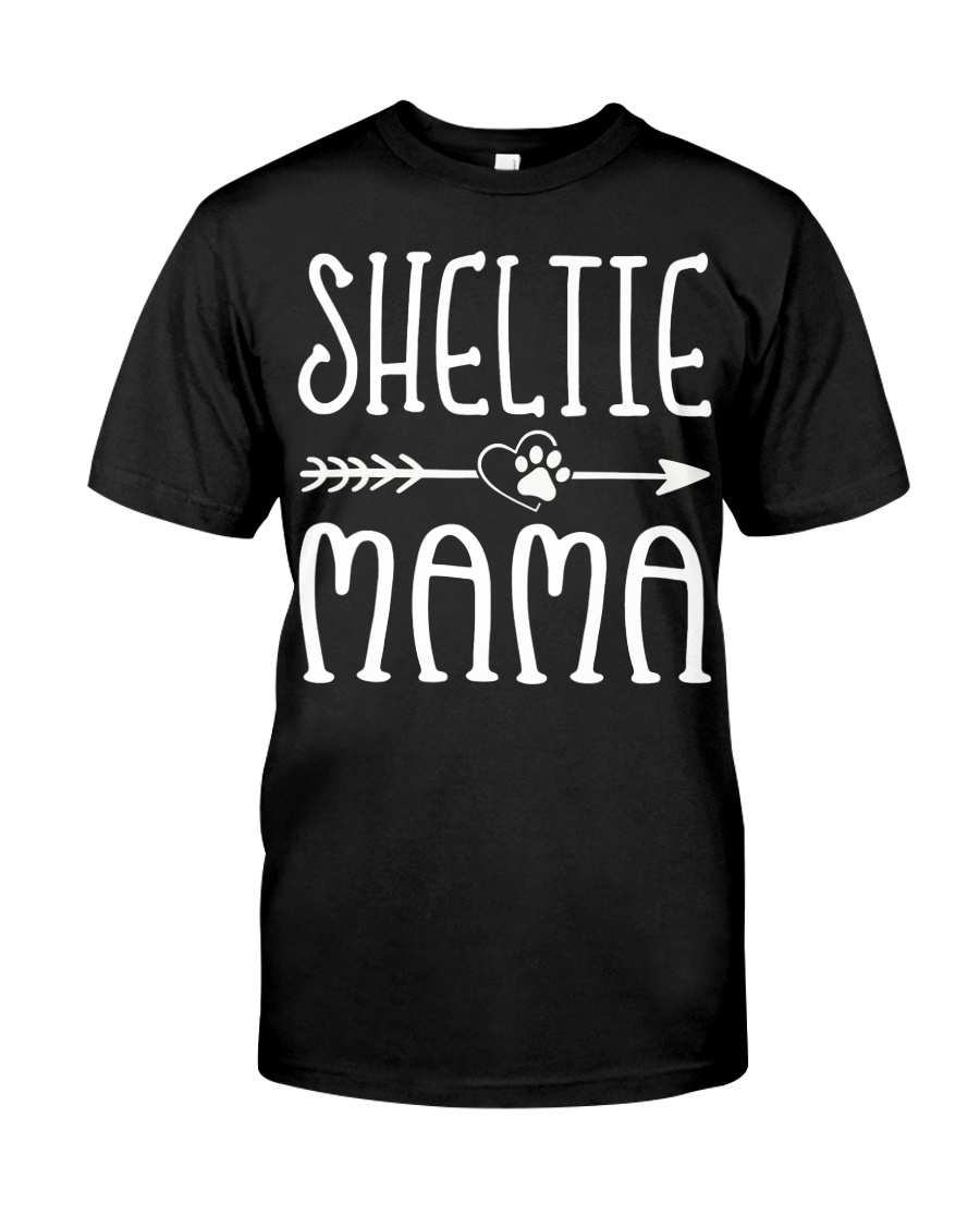 Funny Sheltie Mama Puppy Dog Cute Dog Mom Lo Classic T-Shirt